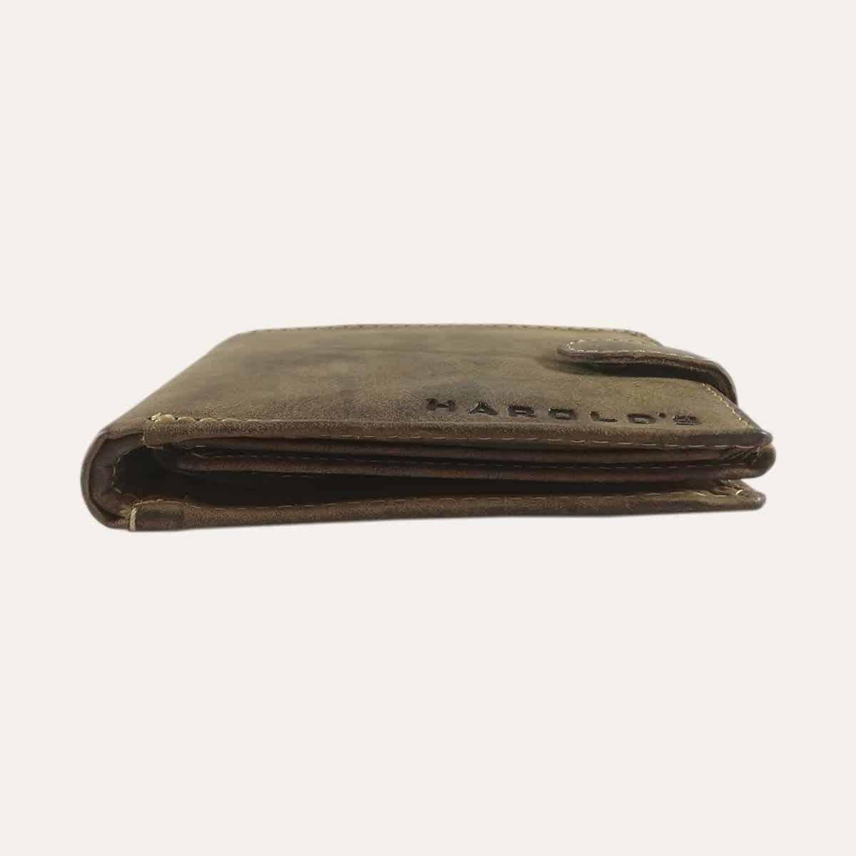 Pánská kožená peněženka Harold's hnědá se zapínáním