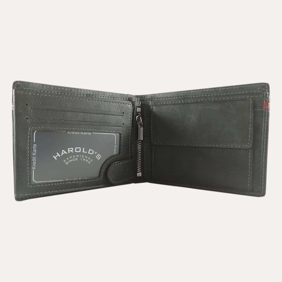 Pánská kožená peněženka Harold's šedá