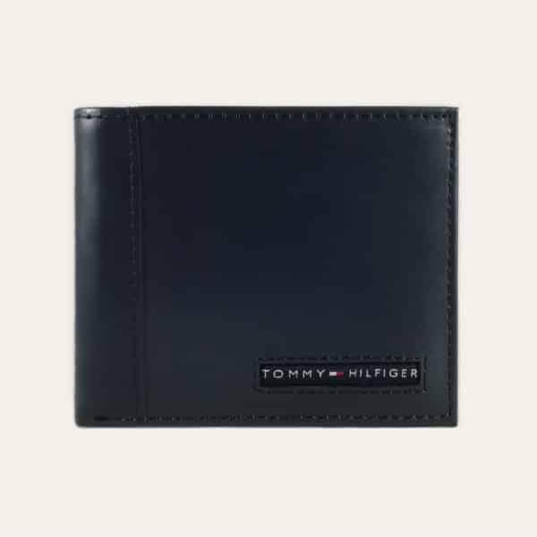 Pánská kožená peněženka TOMMY HILFIGER tmavě modrá
