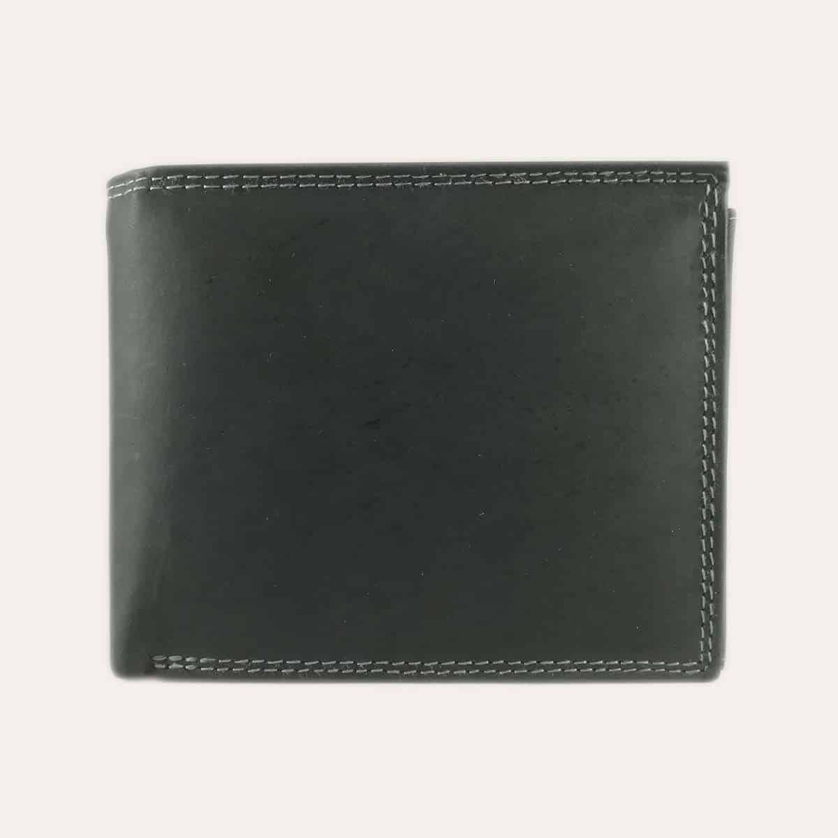 Pánská nubuk peněženka Kochmanski černá s RFID