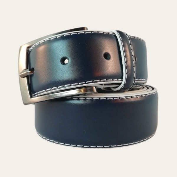 Pánský kožený opasek LaConga modrý