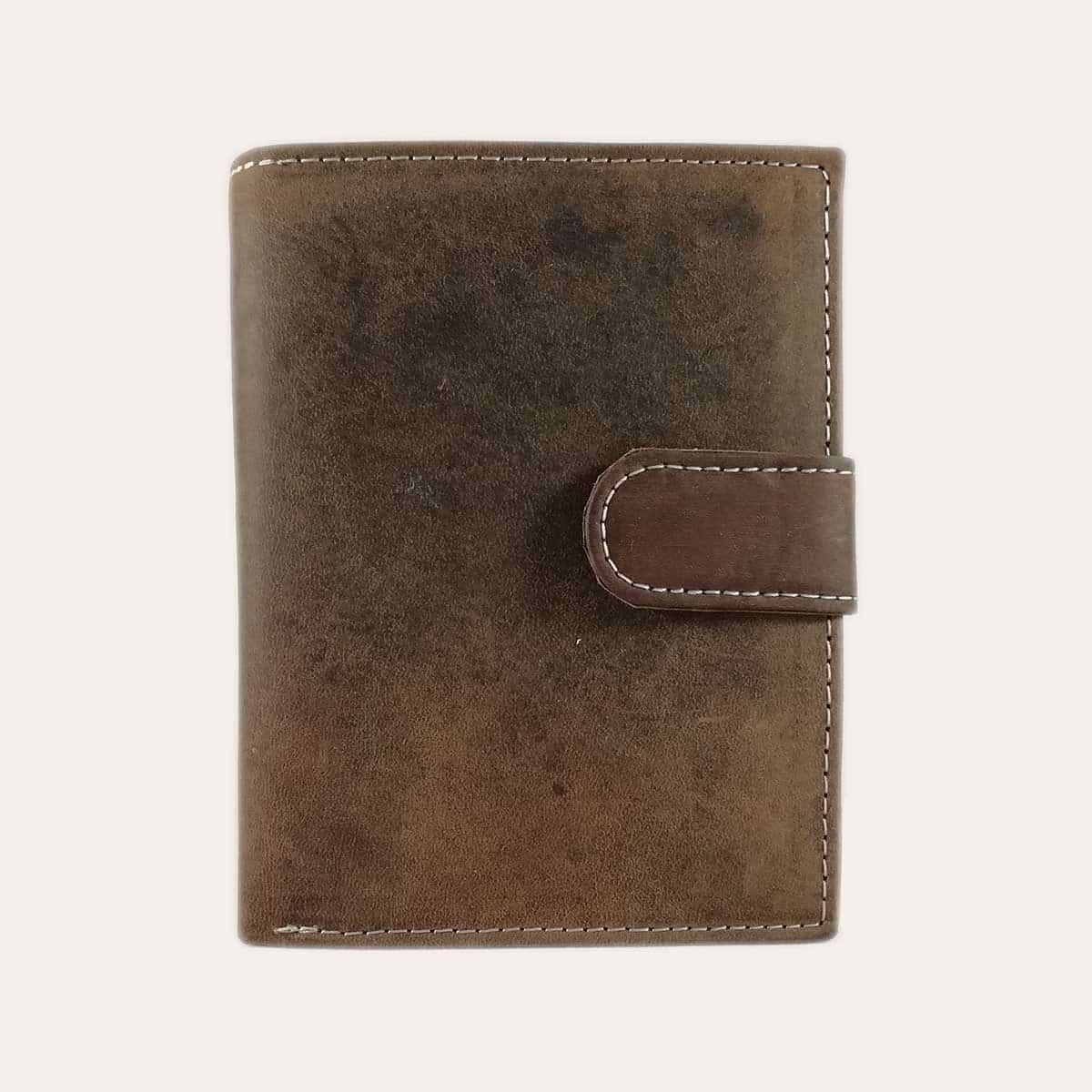Pánská kožená peněženka Kochmanski hnědá se zapínáním RFID