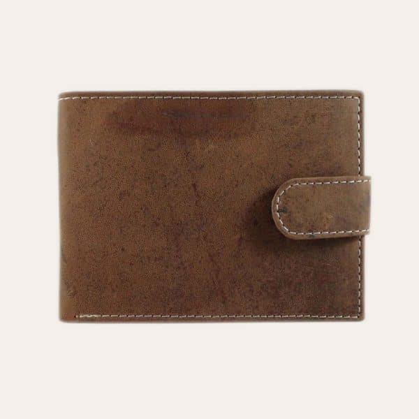 Pánská kožená peněženka Kochmanski tmavě hnědá se zapínáním RFID
