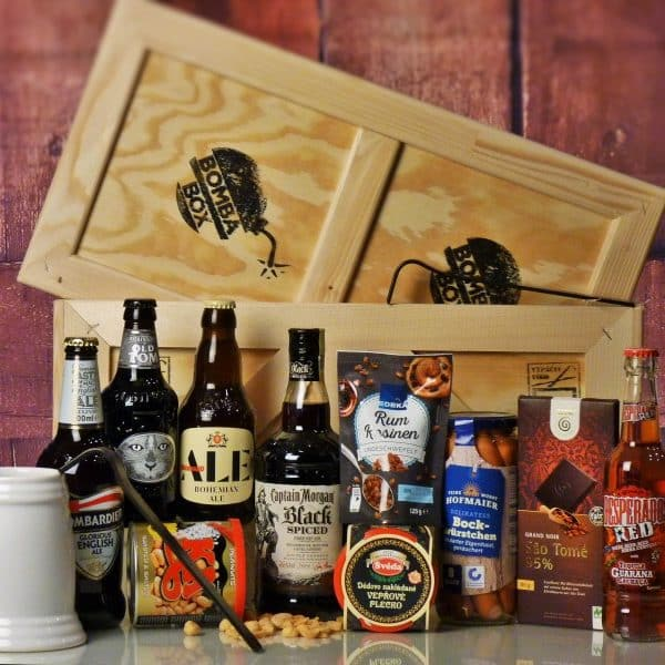 Bedna pro muže – Pivo a Rum VELKÝ BOX